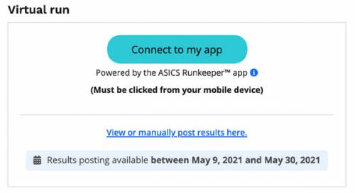 Asics Run Keeper connect to my app